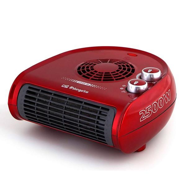 Orbegozo fh-5033 rojo calefactor horizontal 2500w de potencia 2 posiciones de calor y función ventilador