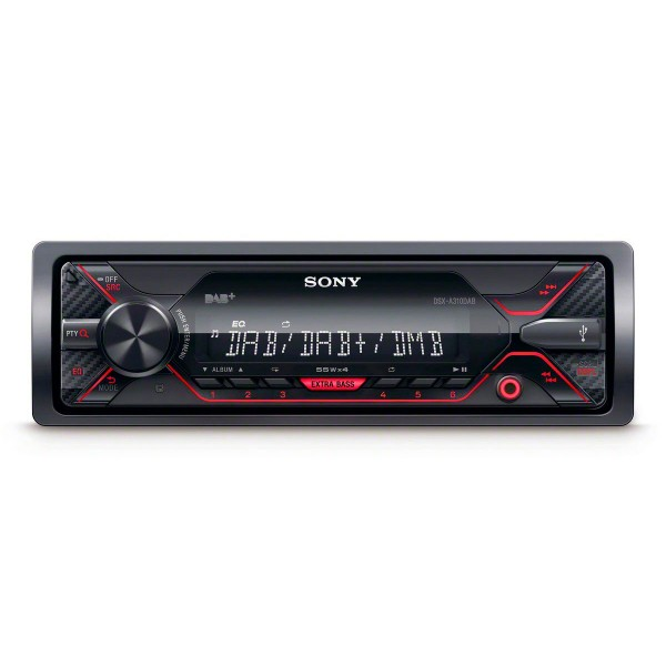 Sony dsx-a310dab receptor multimedia 4x55w con radio dab y usb para el coche