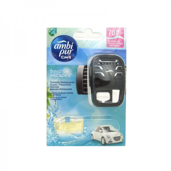 Ambipur car ambientador torrente refrescante aparato + recambio