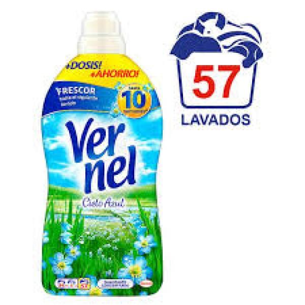 Vernel suavizante cielo azul botella 54 + 3 lavados gratis