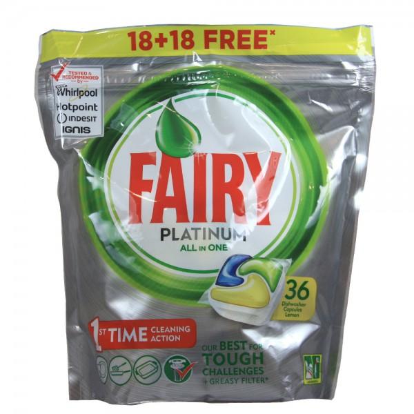 Fairy lavavajillas tabs platinum 18+18 capsulas gratis