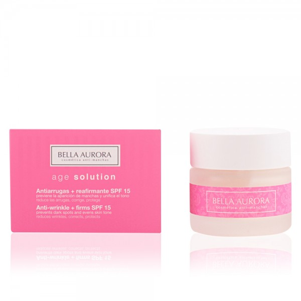 Bella aurora age solution antiarrugas + reafirmante spf15 50ml