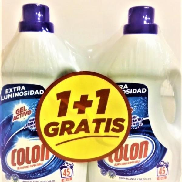 Colon gel detergente l blancura impecable 45 lav.  2 x 1 gratis