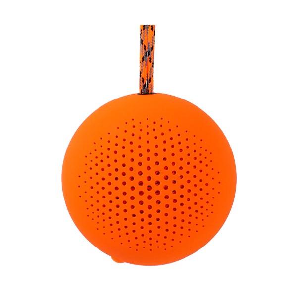 Boompods rokpod naranja altavoz portátil 3w rms bluetooth impermeable ipx7