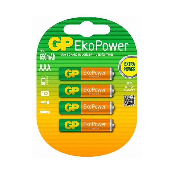 Gp pila recargable lr03 aaa 1.2v ni-mh 650mah blister de 4 unidades
