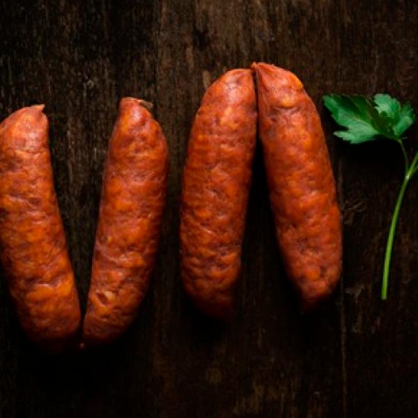 Chorizo barbacoa producción ecológica (vacío 320 gr. aprox.)