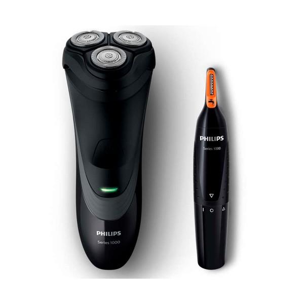 Philips s1520/41 afeitadora eléctrica en seco y recortadora de nariz