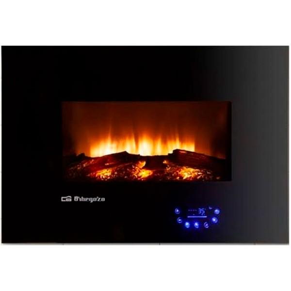 Orbegozo cm-8000 negro estufa eléctrica 1800w efecto fuego