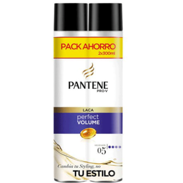 Pantene laca Perfect Volume Pack Ahorro 300 ml + 300 ml