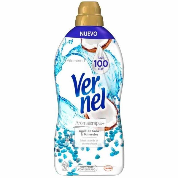 Vernel Aromaterapia Agua de Coco suavizante 76 dosis